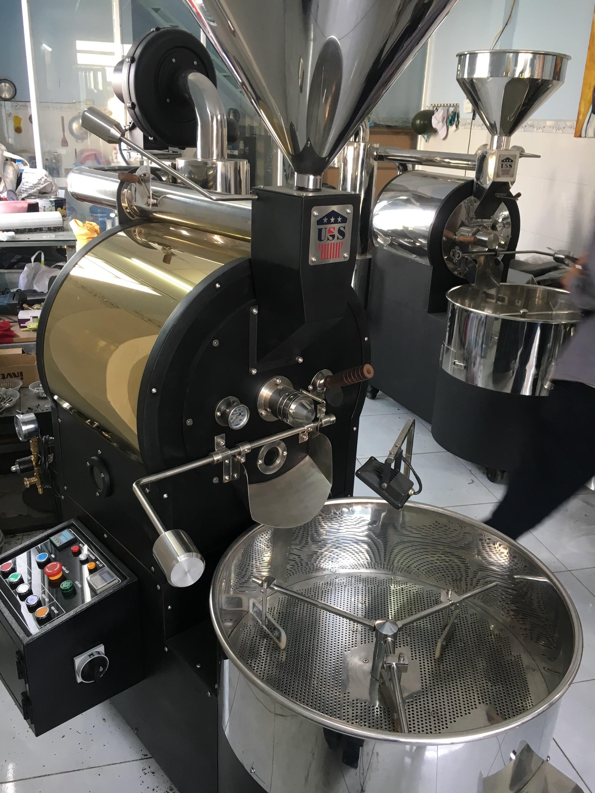 máy rang cà phê 60 kg
