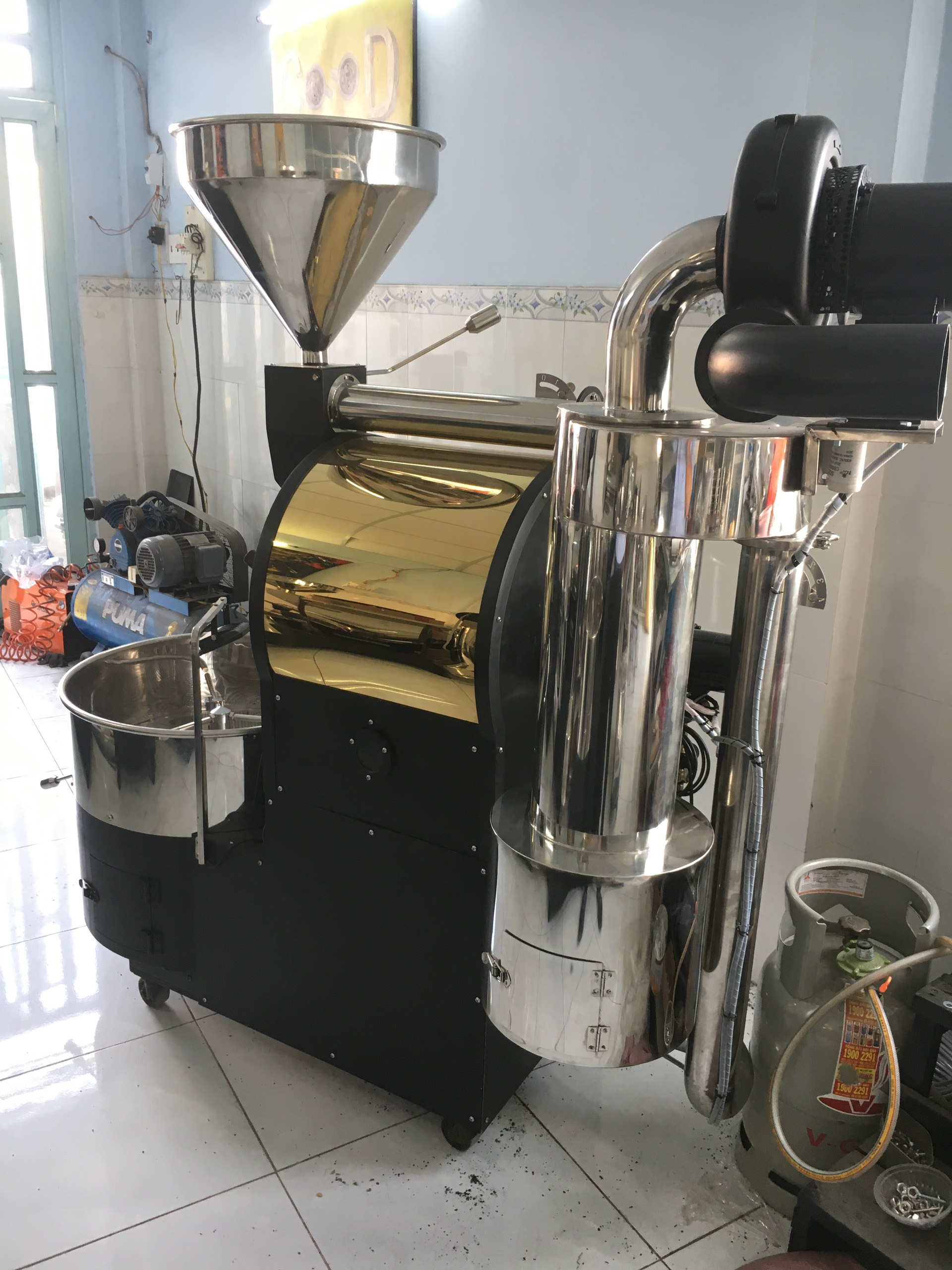 Máy rang cà phê 15kg
